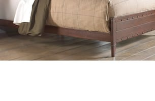 Queen or King Brown Sleigh Bed New