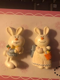 Vintage Sweet cute Easter Bunny Brooches Boy/Girl lot of 2 Decatur, 62521