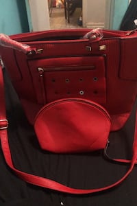 Red purse with wristlet  Toronto, M6A 2M2