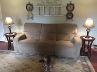 brown fabric 3-seat recliner sofa LYNNWOOD
