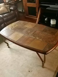 oval brown slate coffee table Levittown, 19056