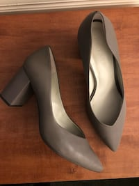 1. STATE grey real leather block heals size 11W Lexington, 02420