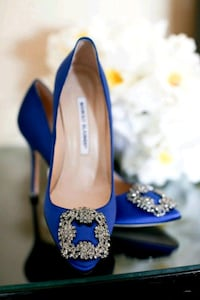 Real Manolo shoes/blue  Vaughan