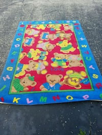 blue, red, and yellow floral area rug Evansville, 47714