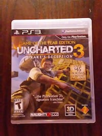 Sony PS3 Uncharted 3 game
