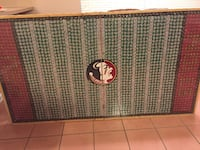 Custom Made Beer Cap FSU table top
