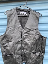 Used leather vest size 46