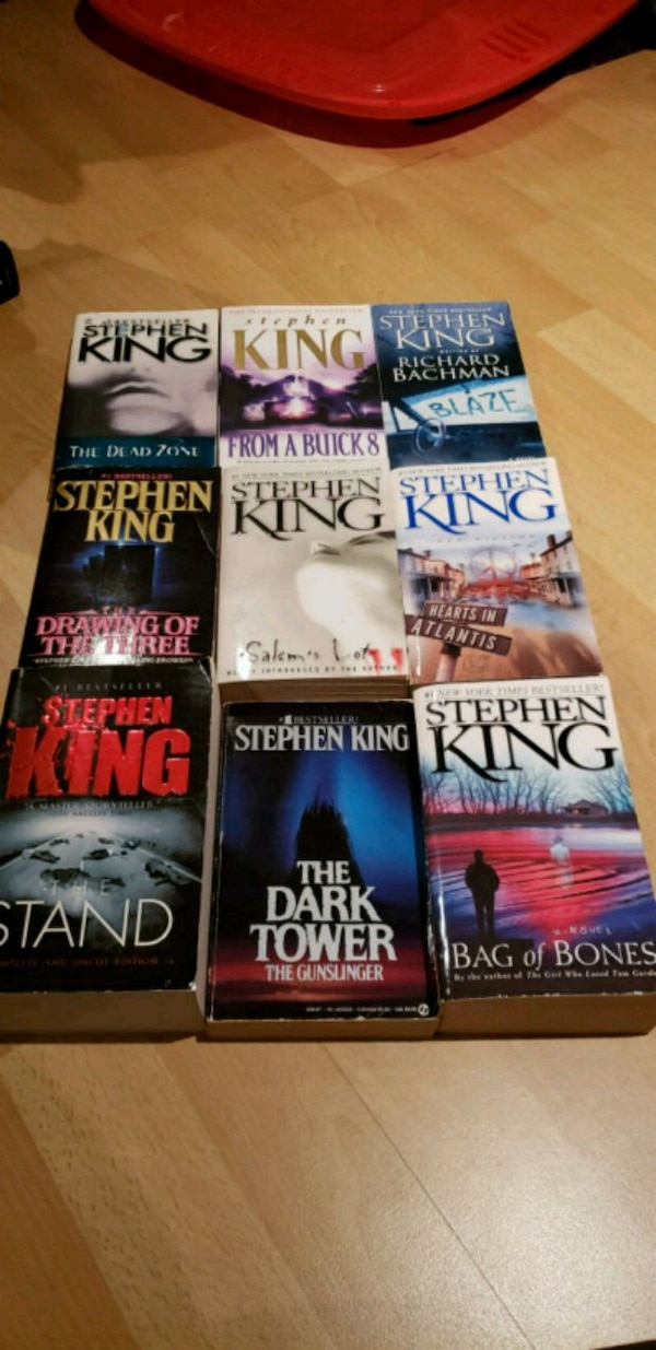 9 assorted novel books collection by Stephen King