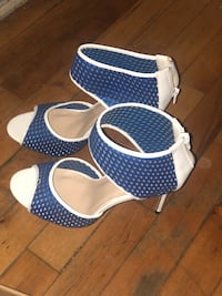 Blue and white heels Lincoln Park, 48146