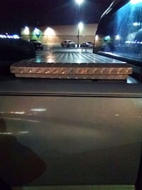 Aluminum tool box for pickup truck. Shallow sides