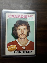 Canadiens Montreal Larry Robinson trading card MONCTON