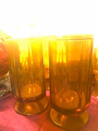 Four amber glasses Granbury, 76048