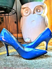 blue leather platform stiletto pumps Woodbridge, 22192