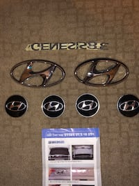 Hyundai Chrome (H) Emblems, Chrome Genesis Lettering Emblem, Hyundai Genesis Coupe 380 GT blacked out Lettering Emblems  Las Vegas, 89117