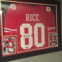 Jerry Rice Signed/Framed Jersey with COA Calgary, T2B 0J3