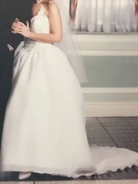 Stunning Wedding Gown In Princess Style--White, Si
