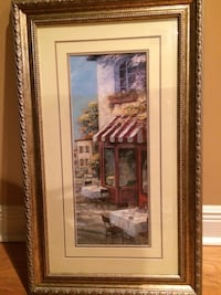 brown store painting in brown frame