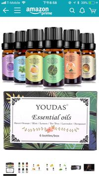 Essential oils(set of 6)new in the box  格伦伯尼, 21061