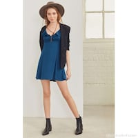 women's blue long-sleeved dress Richmond Hill