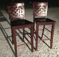 Bar stools /chairs/ pair. Seat height from floor is 30 inches Columbus