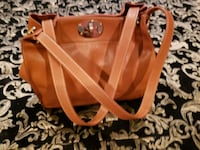 brown leather 2-way handbag Brandywine, 20613