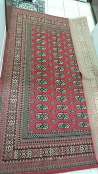 red, white, and green floral area rug Richmond Hill