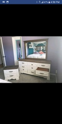 Dresser and mirror with nightstand Bakersfield