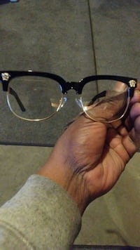 New Versace havana clear glasses