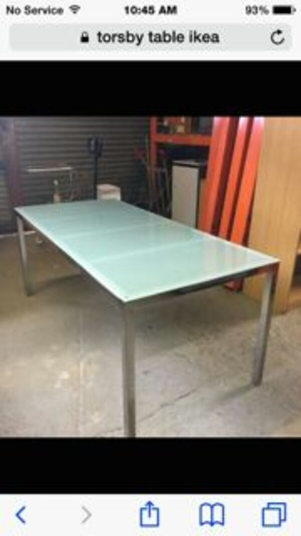 Ikea Torsby Frosted Gl Table