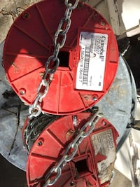 Two round red campbell chain spool Palo Cedro, 96073