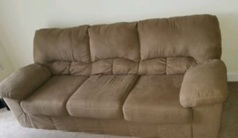 3 seater couch (cloth) $180 OBO