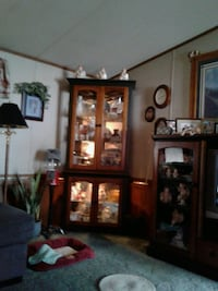 brown wooden framed glass display cabinet Virginia Beach, 23462