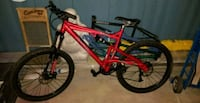 red and black hardtail mountain bike Calmar, T0C 0V0