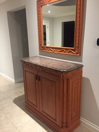 brown wooden cabinet with mirror 776 km