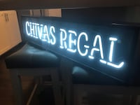 "Chivas Regal neon bar sign!! Looks awesome!! 34""x 8""x 4"" works great! Carmichael, 95608"