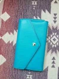 blue Kate Spade leather wallet Victoria, V8T 1P1