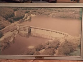 Stevenson Dam Picture in frame