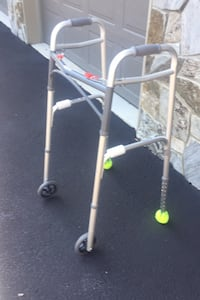 Walker, 4pronged cane & bike - great equipment for recovery & senior citizens