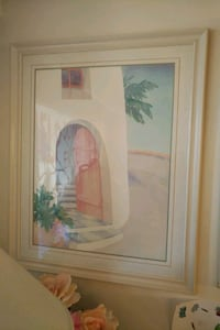 Living room pastel painting