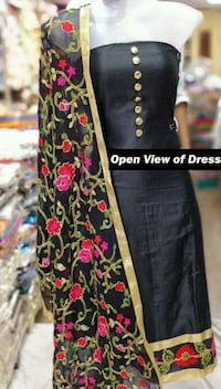 women's black and red floral long sleeve dress Coimbatore, 641027