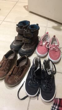 branded shoes size 3-4  gymboree ecco old navy good condition size 3-4 25$for all  Brampton, L6S 5S4