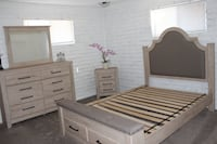 Queen size bedroom Set. Brand New. Used Only For Staging La Habra
