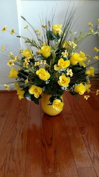 Yellow Rose Silk Flower Arrangement Ashburn, 20147