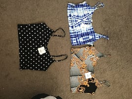 Brand new cropped tank tops