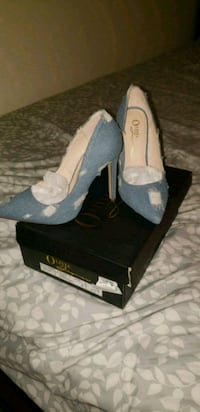 Womens blue jean heels Brownsville