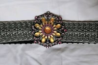 Ladies metal stretch belt with beads and pink crystals Brampton, L6S 2R8