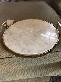 Marble and gold tray Durham, 27701
