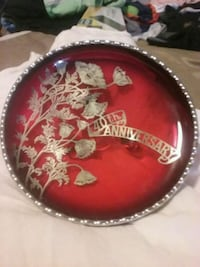 Silver framed red 40th Anniversary decorative  Eureka, 95503