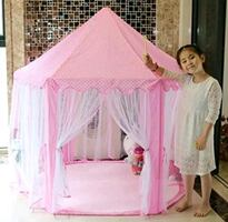 Pink castle tent with star lights