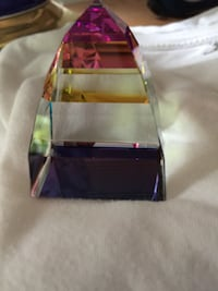 Swarovski Crystal pyramid, multicolored